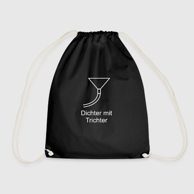 Poet with funnel - Drawstring Bag