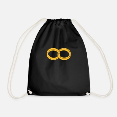 Together wedding rings - like a Symbol of infinity - Drawstring Bag