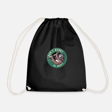 Starbucks Faultier Starbucks Button Faul Fun Humor LOL chill - Drawstring Bag