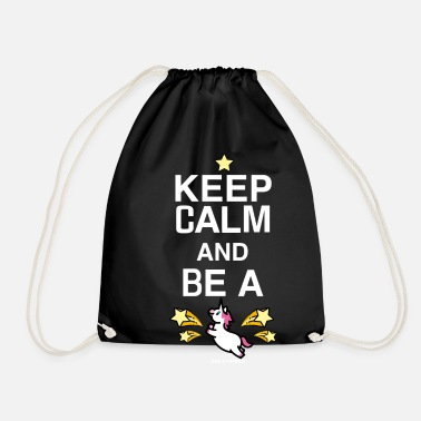 Birthday SmileyWorld Keep Calm And Be A Unicorn - Drawstring Bag