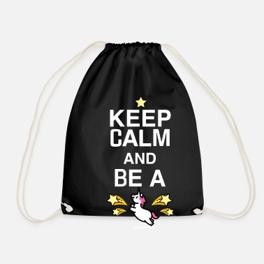 Officialbrands SmileyWorld Keep Calm And Be A Unicorn - Turnbeutel