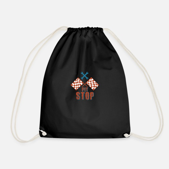 Ziel Bags & Backpacks - Pit stop - Drawstring Bag black