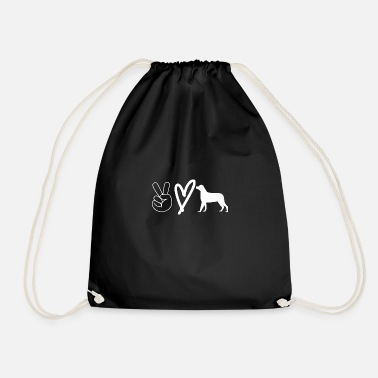Peace Love Dog Dog owners having fun - Drawstring Bag