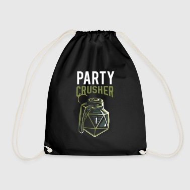 088995f1b5a Crusher Pen and paper critical fail party crusher - Drawstring Bag