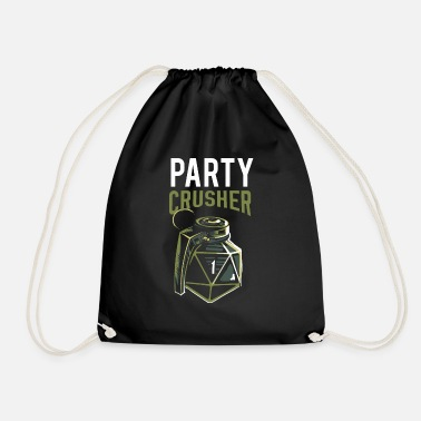 Crusher Pen and paper critical fail party crusher - Drawstring Bag