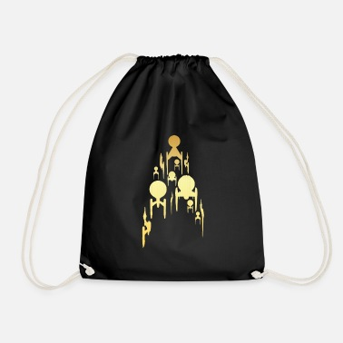 Star Trek Discovery Spaceships In Flight Gold - Drawstring Bag