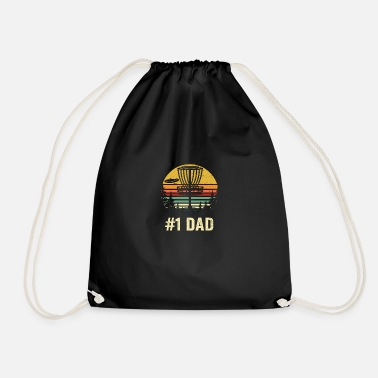 Disco # 1 Dad Disc Golf Shirt - Number One Dad Frisbee Go - Sacca sportiva