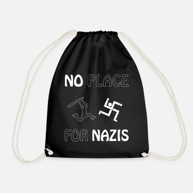 no place for nazis - Drawstring Bag