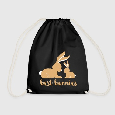 Best Bunnies - best friends - Drawstring Bag