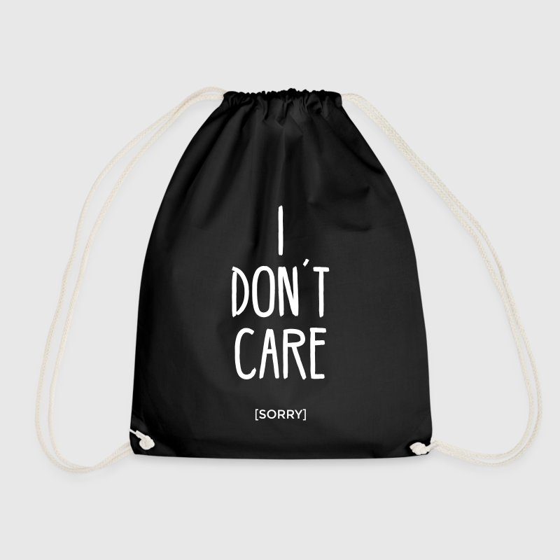 I don´t care sorry ist mir egal statement Spruch - Turnbeutel