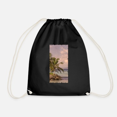 Beach Vintage Beach - Drawstring Bag