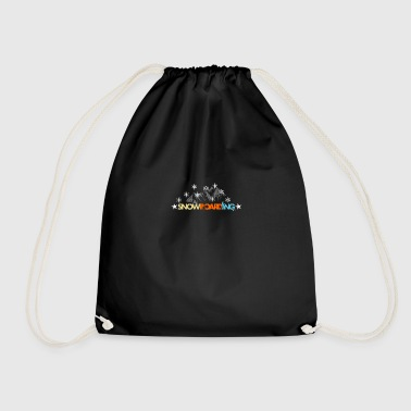 Snowboard mountains Alps Alps mountains - Drawstring Bag