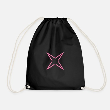 Asterisk Four ragged star design vector - Drawstring Bag
