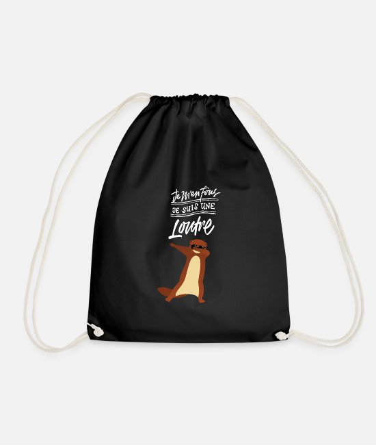 DAB Bags & Backpacks - Je M en Fous Dabbing Loutre Dab Dance - Drawstring Bag black