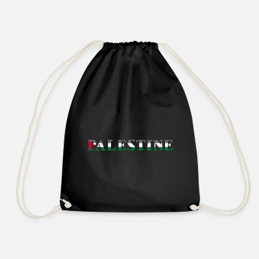 Palestinian Palestine Peace Gaza Strip Flag Middle East - Drawstring Bag