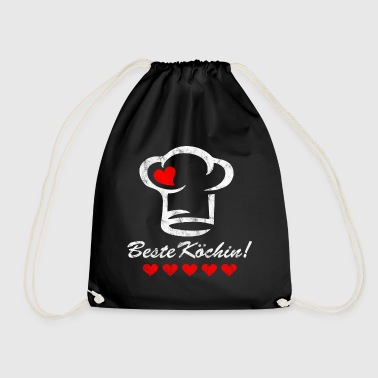 Best Chef Chef Cook's hat Heart Mother's Day - Drawstring Bag