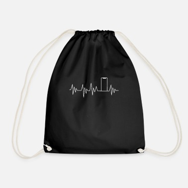 Mobile Phone Heartbeat smartphone mobile phone - Drawstring Bag