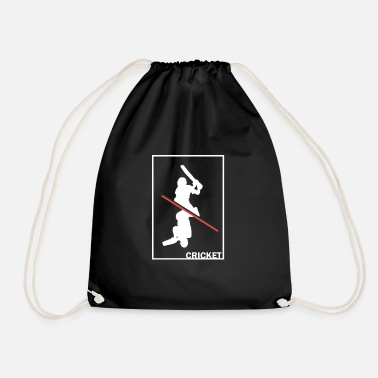 Cricket Cricket cricket cricketer gift - Drawstring Bag