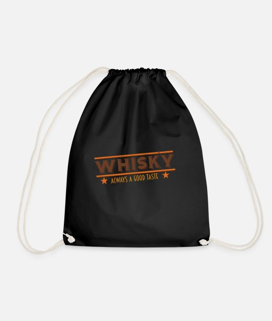Wine Bags & Backpacks - whiskey whiskey scotch - Drawstring Bag black
