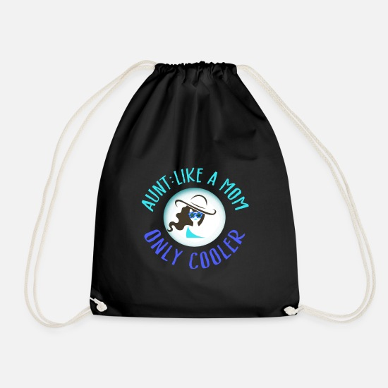 Birthday Bags & Backpacks - aunt - Drawstring Bag black