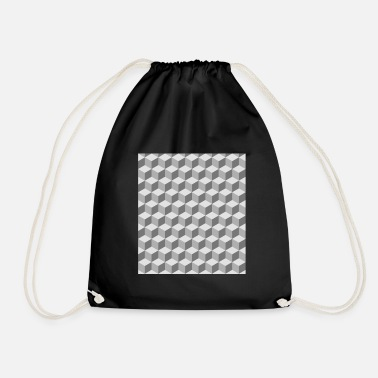 Pattern Block pattern pattern - Drawstring Bag
