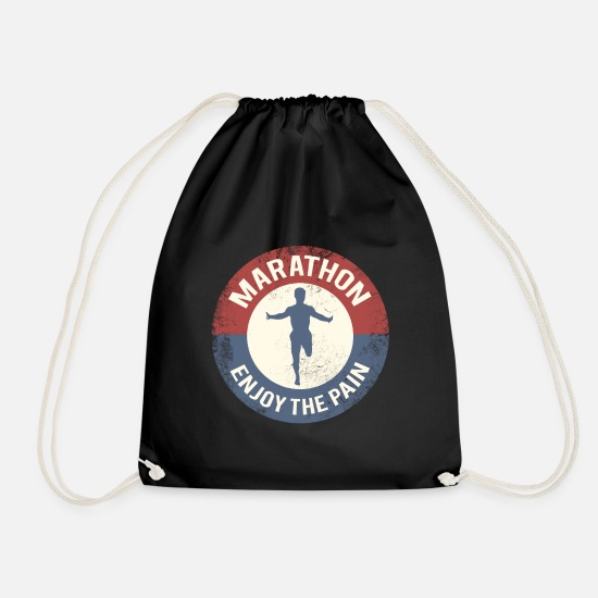Running Bags & Backpacks - marathon - Drawstring Bag black