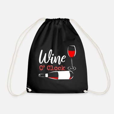 Drink Wine Drinking wine - Drawstring Bag