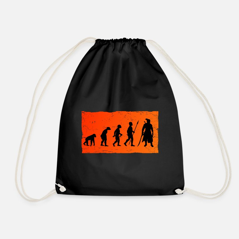 Manga Bags & Backpacks - Evolution to Gaming RPG Samurai - Drawstring Bag black