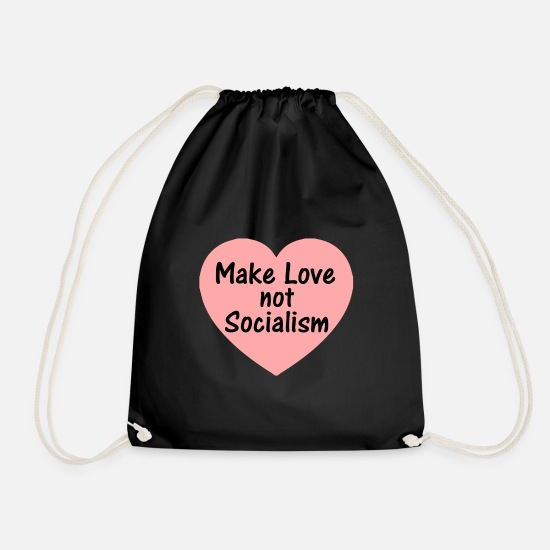 Capitalist Bags & Backpacks - socialism - Drawstring Bag black
