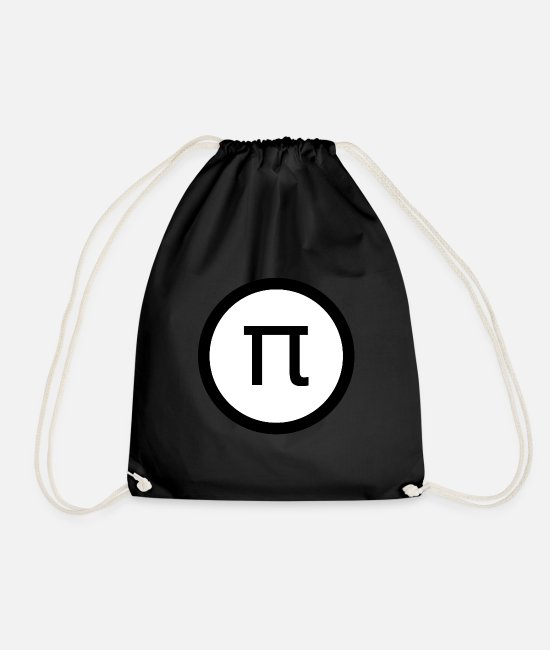 Matheo Bags & Backpacks - Pi math - Drawstring Bag black