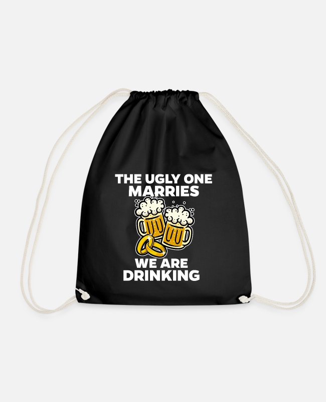 Husband Bags & Backpacks - Bachelor Party Wedding Party Marriage Funny - Drawstring Bag black