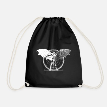 Batman Dark blanc femme Tee Shirt - Sac à dos cordon