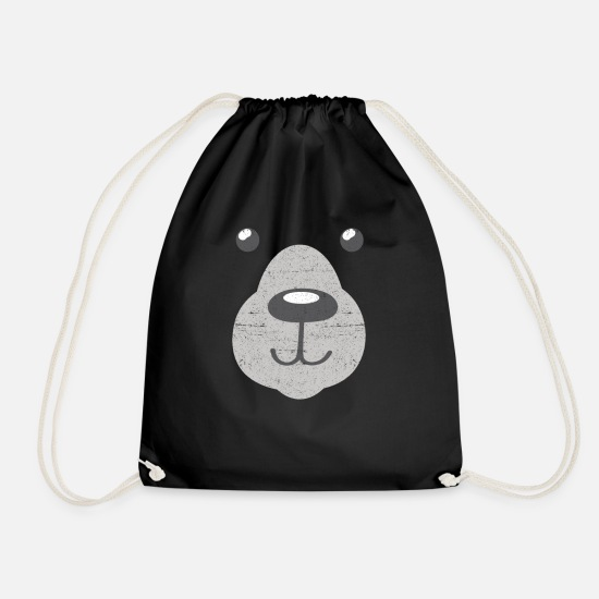 Lover Bags & Backpacks - Polar Bear Polar Bear - Drawstring Bag black