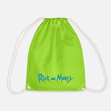 Rick And Morty Title Typography - Drawstring Bag