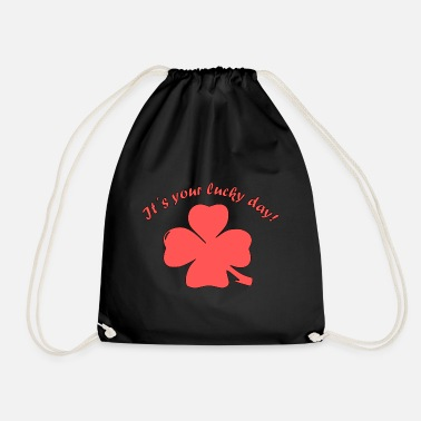 Lucky Charm Lucky day shamrock lucky charm - Drawstring Bag