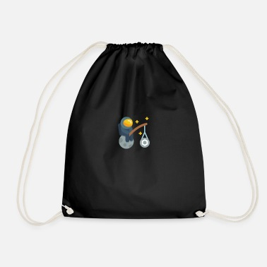 Chainlink astronaut chainlink - Drawstring Bag