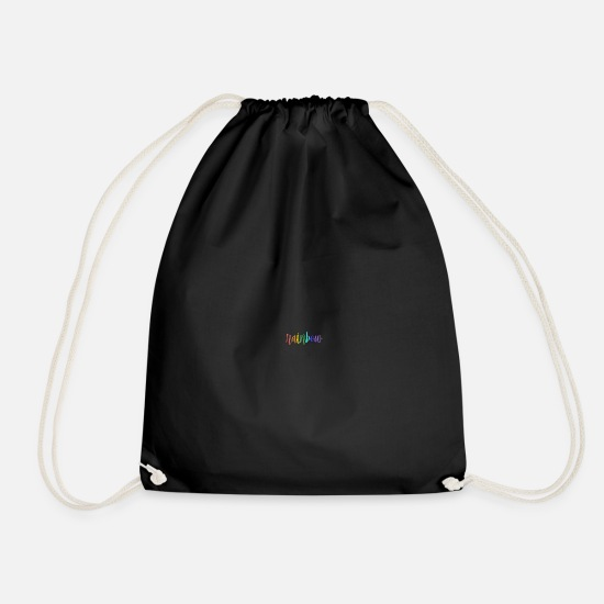 Rainbow Bags & Backpacks - rainbow - Drawstring Bag black