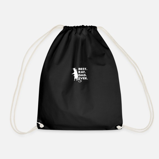 Gift Idea Bags & Backpacks - Best Rat Dad Ever - Drawstring Bag black