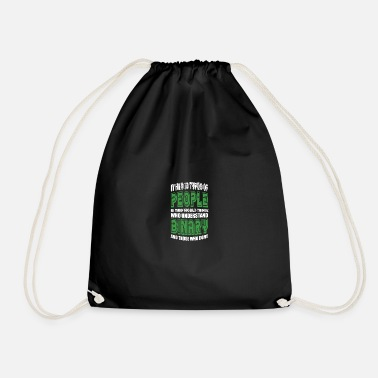 Technology There are 10 types of people saying binary - Drawstring Bag
