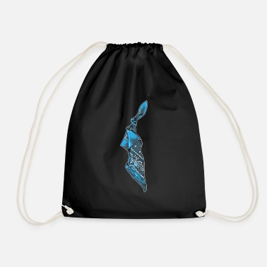 Blue Bandana - Drawstring Bag