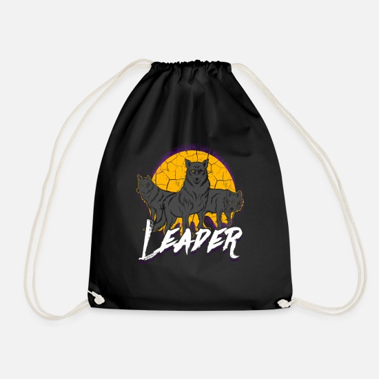 Pack Bags & Backpacks - Wolf Pack Pack Leader Pack Wolf Gift - Drawstring Bag black