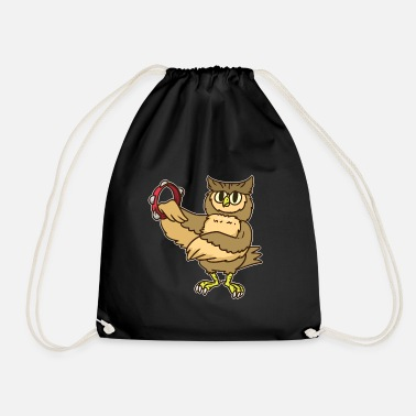 Folklore Tambourine eagle owl folklore music owl gift - Drawstring Bag