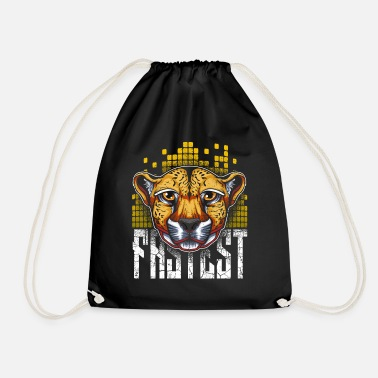 Trendy Trendy cheetah - Drawstring Bag
