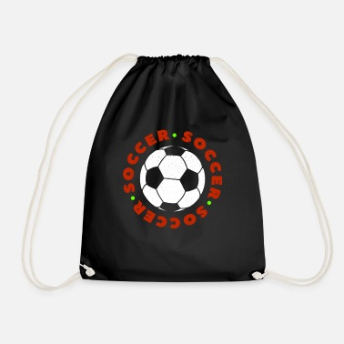 Kick Soccer Football Player Ball I love Soccer Fussball - Drawstring Bag