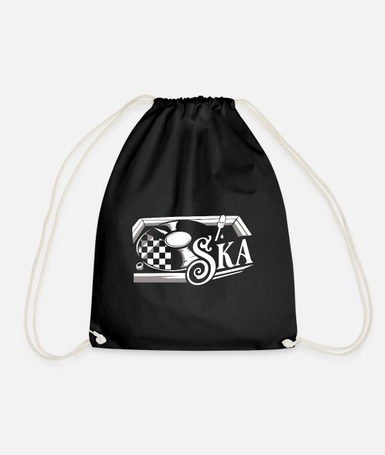 Ska Bags & Backpacks - Ska reggae - Drawstring Bag black