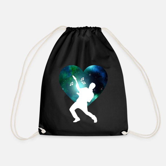 Gift Idea Bags & Backpacks - Guitarist electric guitar electric guitar - Drawstring Bag black