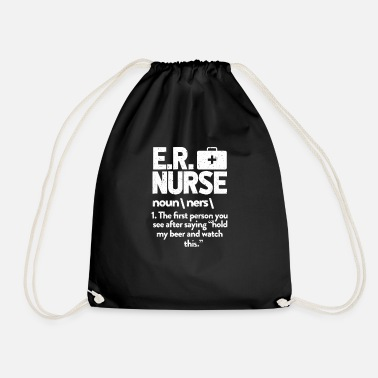 Emergence Nurse emergency emergency nurse gift - Drawstring Bag
