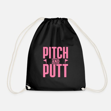 Pitch Pitch and Putt Pitch and Putt Pitch and Putt - Drawstring Bag