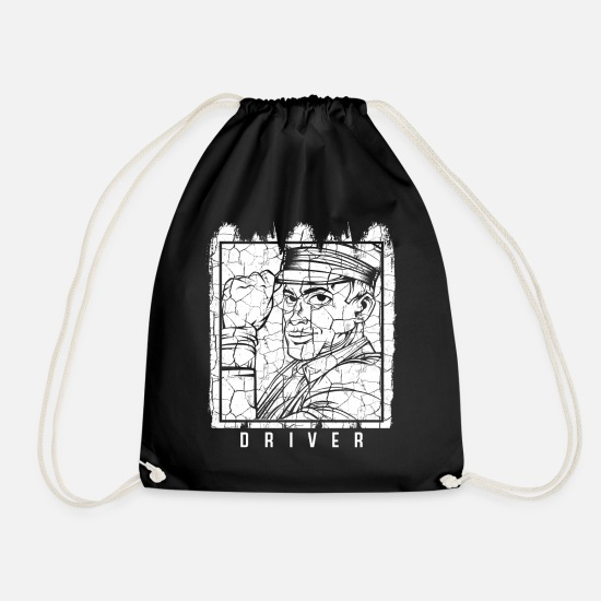Taxi Driver Bags & Backpacks - taxi - Drawstring Bag black