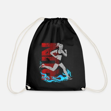 Running Texture girl run hot run gift - Drawstring Bag